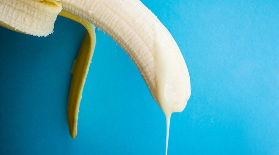 изпразване на банан