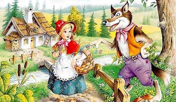 червената шапчица и вълка